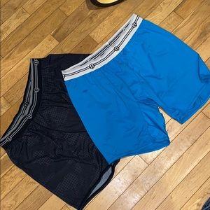 Lululemon pair boxer shorts underwear pants bottom